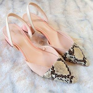 NEW MNG contrast slingbacks w/ block heel